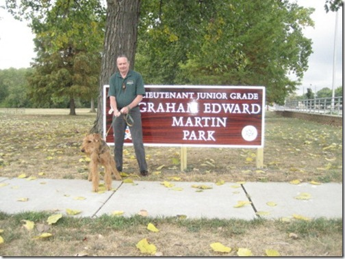 Breanna and me at the Park just renamed after Lt. j.g. Graham Edward Martin